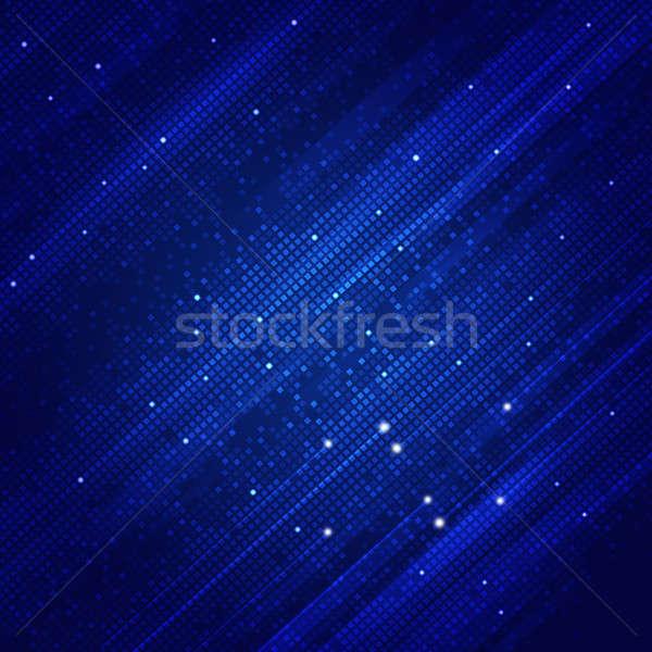 Abstract Square Shapes Blue Background Stock photo © alexaldo