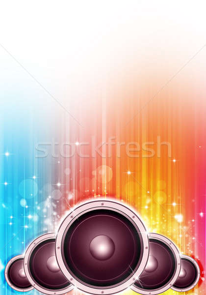 Hang hangfalak zene buli szórólapok plakátok Stock fotó © alexaldo
