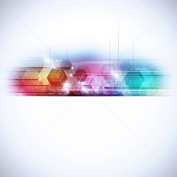 Abstract Geometric Multicolor Technology Background Stock photo © alexaldo