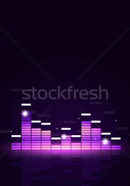 эквалайзер музыку плакат радостный вечеринка событиях Сток-фото © alexaldo