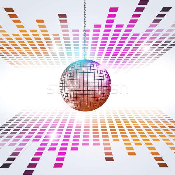 Diszkó zene diszkógömb hangszínszabályozó aktív buli Stock fotó © alexaldo