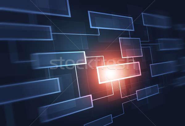 üzlet folyamatábra absztrakt kommunikáció kék vállalati Stock fotó © alexaldo