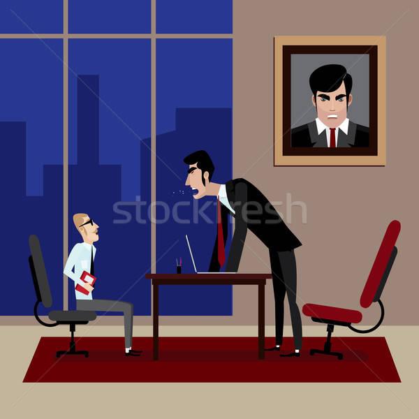 Boss shouting on his employee in office Stock photo © alexanderandariadna
