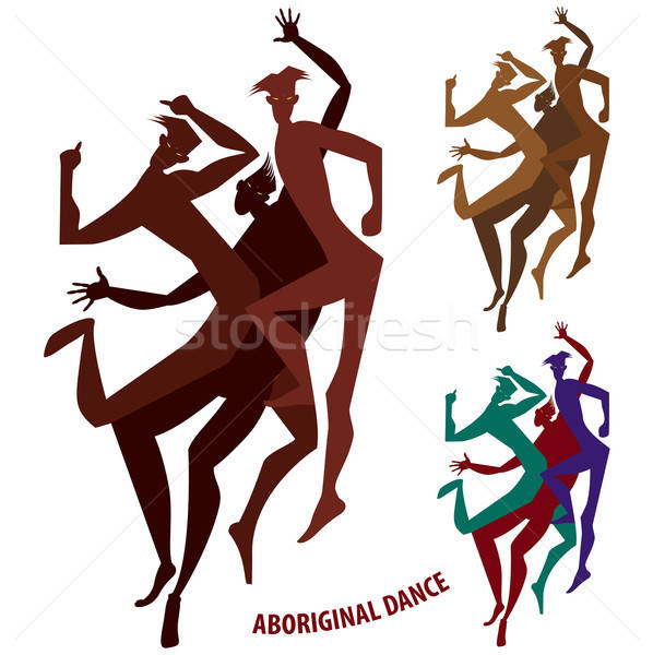Set of aboriginal dance boys Stock photo © alexanderandariadna