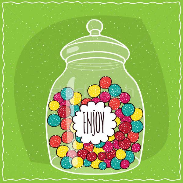 Vetro jar colorato Foto d'archivio © alexanderandariadna