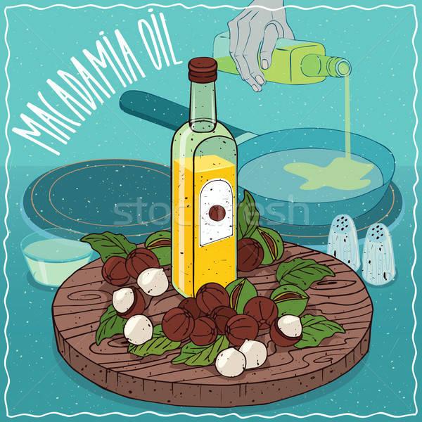 Macadamia oil used for frying food Stock photo © alexanderandariadna