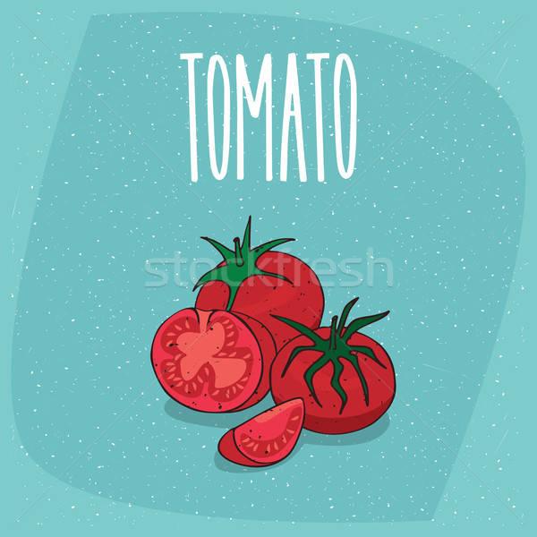 Geïsoleerd rijp vruchten tomaat plantaardige geheel Stockfoto © alexanderandariadna