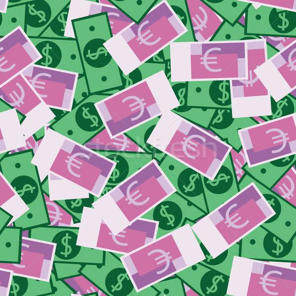 お金 パターン 多くの ドル ユーロ シームレス ストックフォト © alexanderandariadna