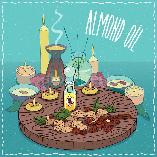 Almendra petróleo utilizado aromaterapia vidrio Foto stock © alexanderandariadna