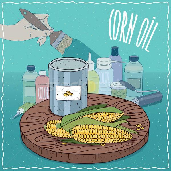 Corn oil used for paint manufacture Stock photo © alexanderandariadna