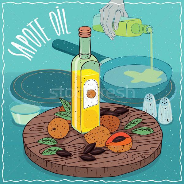 Sapote oil used for frying food Stock photo © alexanderandariadna