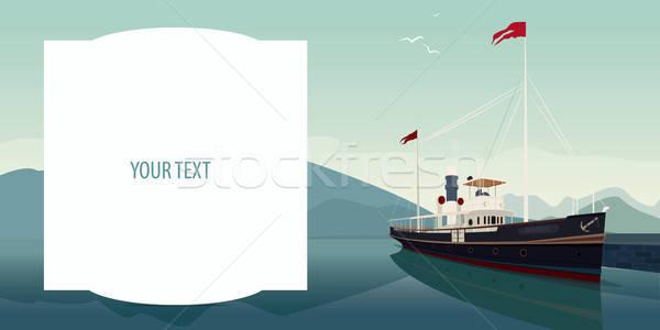 Modello testo campo il piacere barca grande Foto d'archivio © alexanderandariadna
