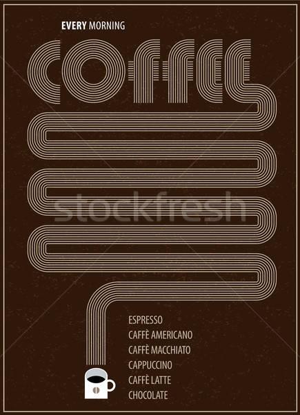 плакат кофе Кубок фон ресторан пить Сток-фото © alexanderandariadna