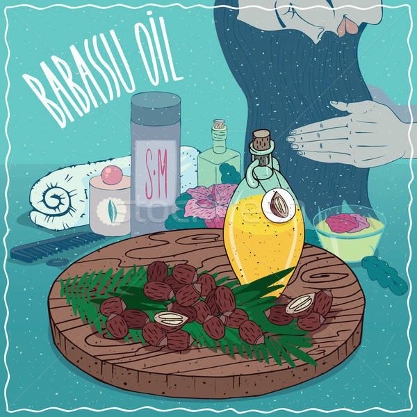 Babassu oil used for hair care Stock photo © alexanderandariadna