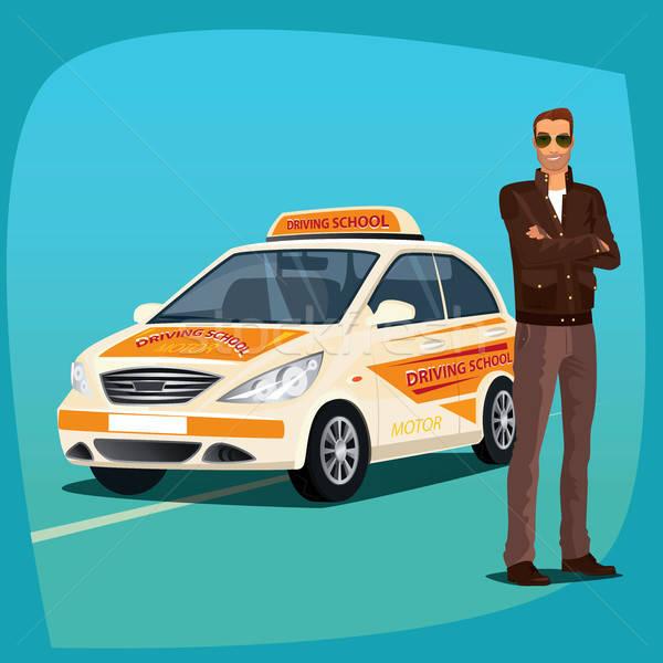 Condução instrutor escolas veículo jovem automático Foto stock © alexanderandariadna
