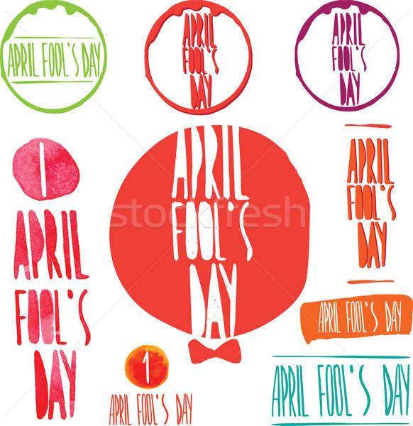 Illustration Celebrating April Fools Day Stock photo © alexanderandariadna
