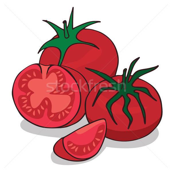 Stockfoto: Rijp · tomaat · plantaardige · witte