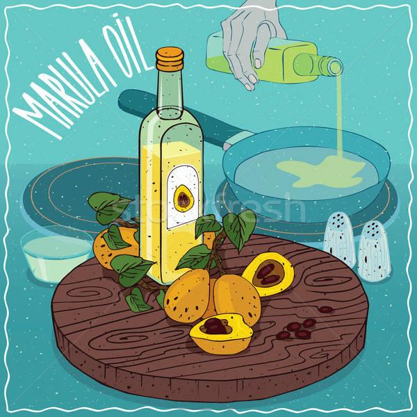 油 中古 食品 ガラス ボトル 果物 ストックフォト © alexanderandariadna