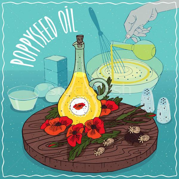 Poppyseed oil used for cooking Stock photo © alexanderandariadna