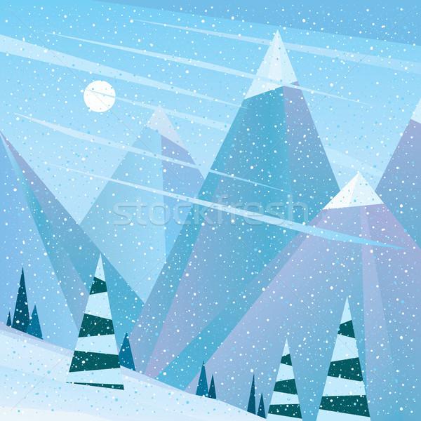 Vazio meio-dia ver esquiar neve Foto stock © alexanderandariadna