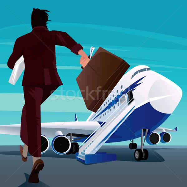 Affaires dépêchez avion homme affaires Photo stock © alexanderandariadna