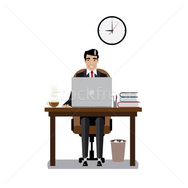 Stock photo: Workplace businessman