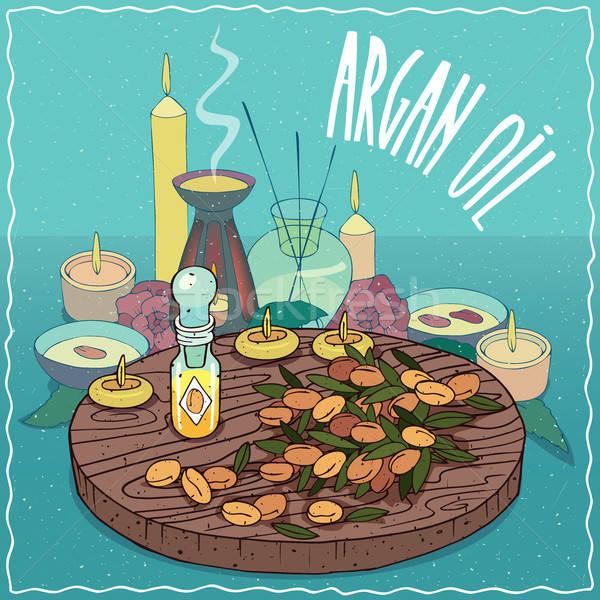 Argan oil used for aromatherapy Stock photo © alexanderandariadna