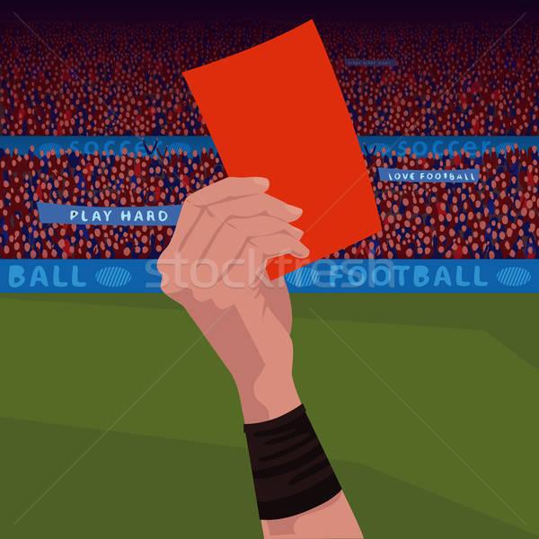 Close up hand holding red card Stock photo © alexanderandariadna