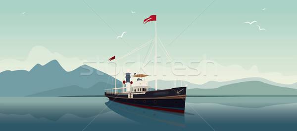 レトロな 蒸し器 オープン 海 日 風光明媚な ストックフォト © alexanderandariadna