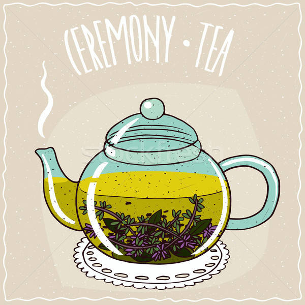üveg teáskanna tea átlátszó forró hazugság Stock fotó © alexanderandariadna