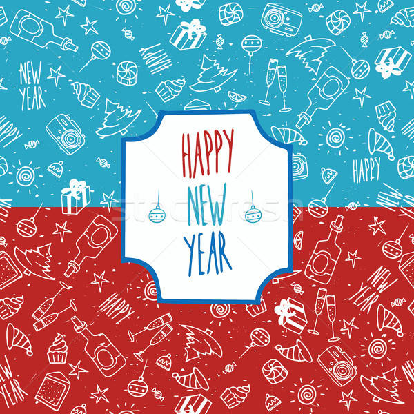 Festive pattern Happy New Year Stock photo © alexanderandariadna