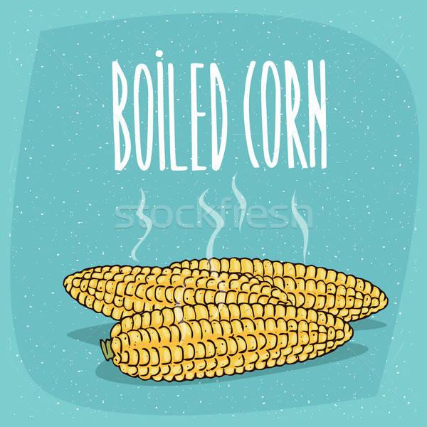 Aislado todo maíz orejas caliente Foto stock © alexanderandariadna