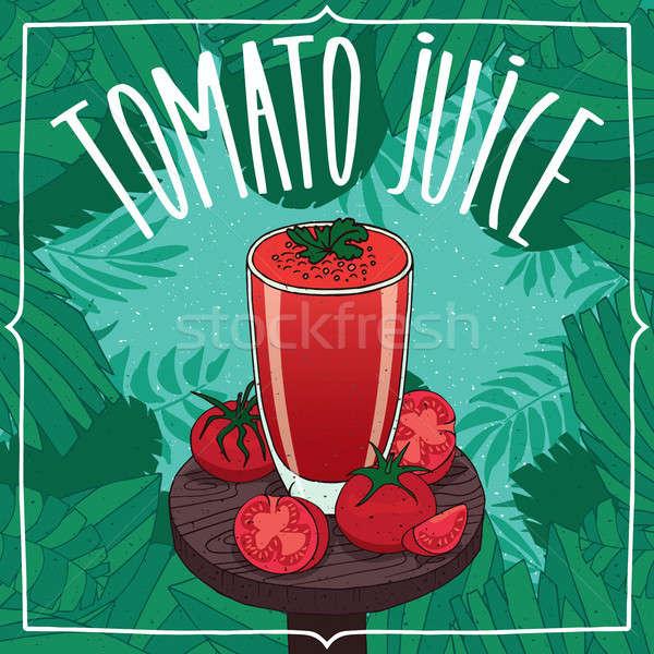 新鮮な トマトジュース ガラス 果物 透明な ストックフォト © alexanderandariadna