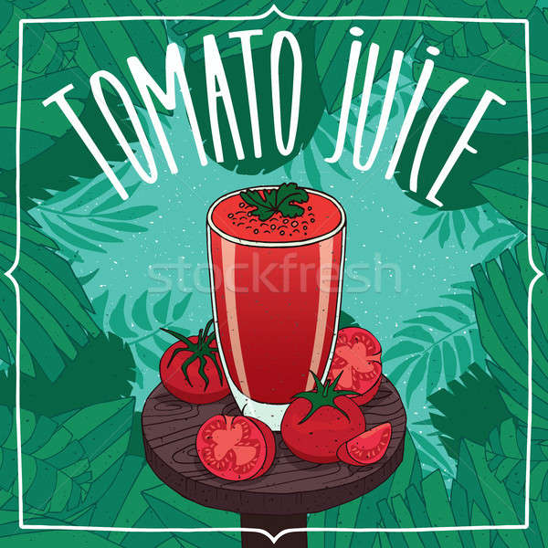 Vers tomatensap glas rijp vruchten transparant Stockfoto © alexanderandariadna