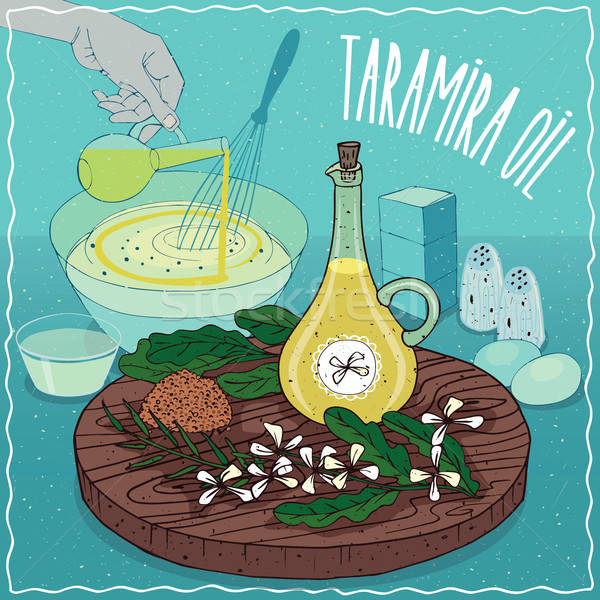 Taramira oil used for cooking Stock photo © alexanderandariadna