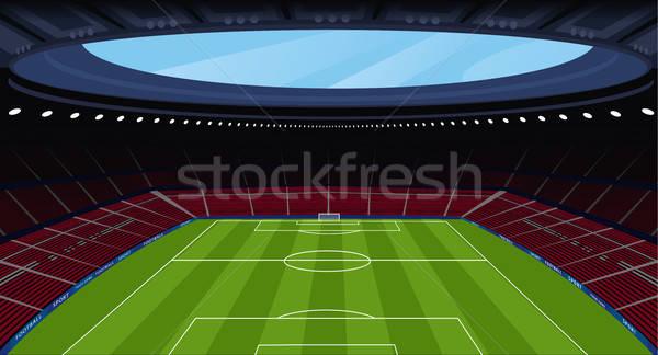 Hatalmas üres futball stadion időjárás kilátás Stock fotó © alexanderandariadna
