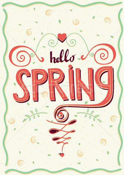 Inscription Hello spring Stock photo © alexanderandariadna