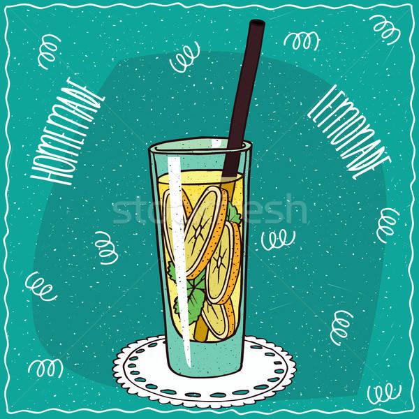 自家製 レモネード 漫画 スタイル ガラス ストックフォト © alexanderandariadna