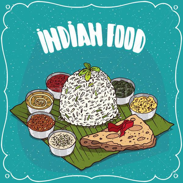 Tradicional comida indiana arroz comida prato Foto stock © alexanderandariadna