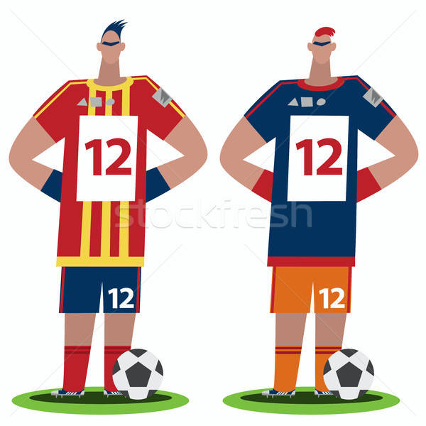 Voetbal spelers stand twee Stockfoto © alexanderandariadna