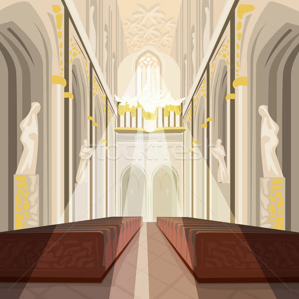 Interior catedral iglesia católico basílica hermosa Foto stock © alexanderandariadna