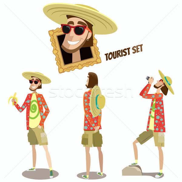 Set turisti turistica uomo tre diverso Foto d'archivio © alexanderandariadna
