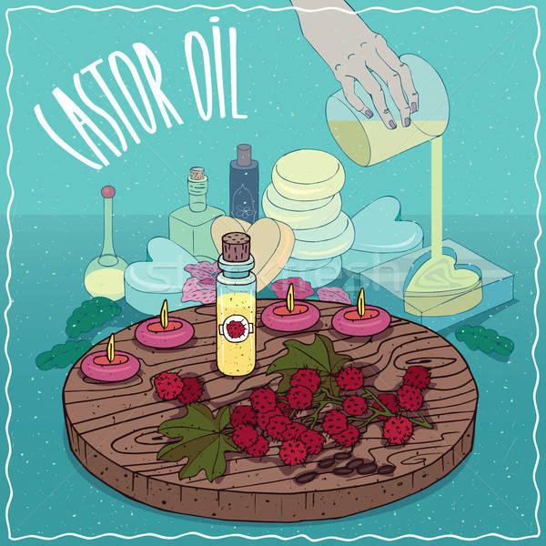 Castor oil used for soap making Stock photo © alexanderandariadna