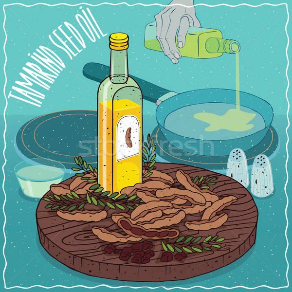 Tamarind seed oil used for frying food Stock photo © alexanderandariadna