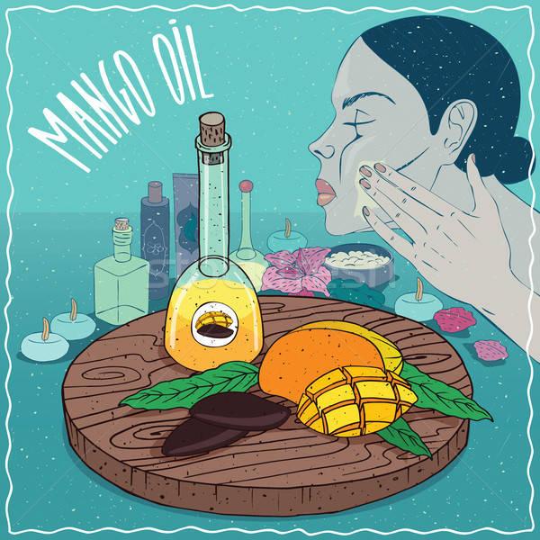 Mango seed oil used for skin care Stock photo © alexanderandariadna