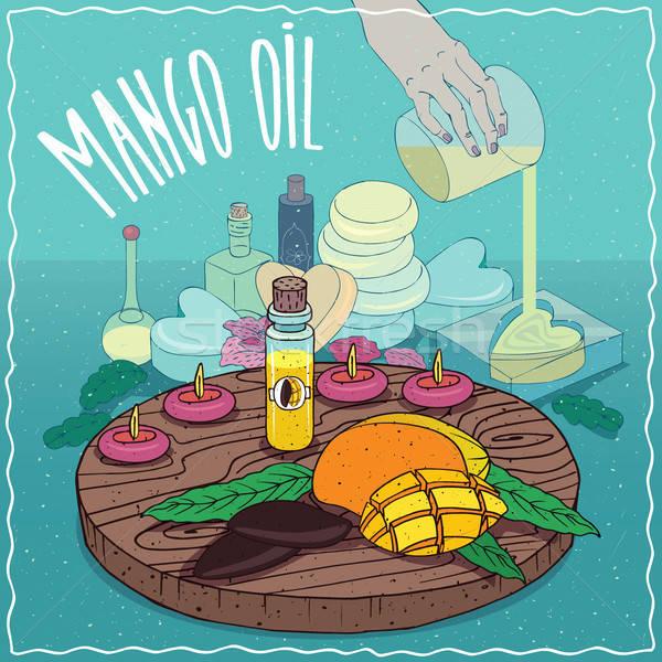 Mango seed oil used for soap making Stock photo © alexanderandariadna