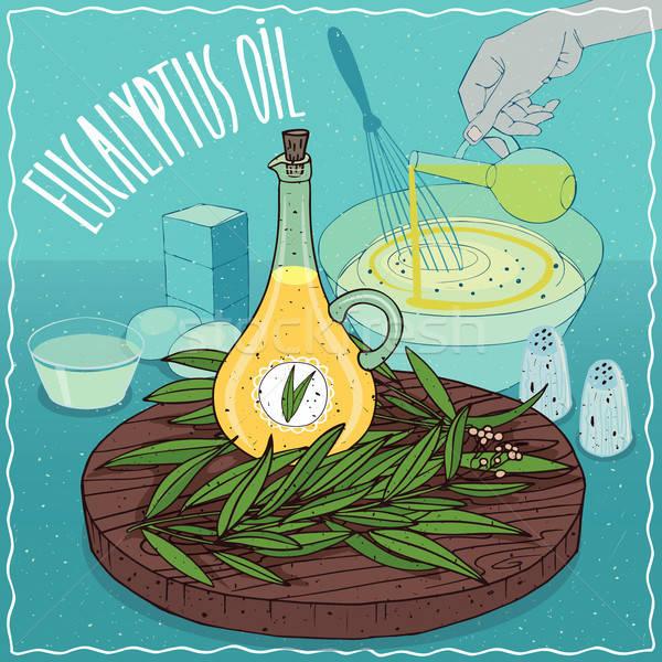 Eucalyptus oil used for cooking Stock photo © alexanderandariadna