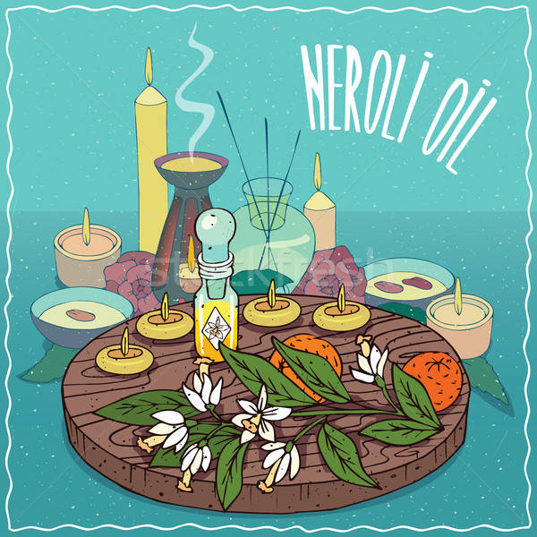 Neroli oil used for aromatherapy Stock photo © alexanderandariadna