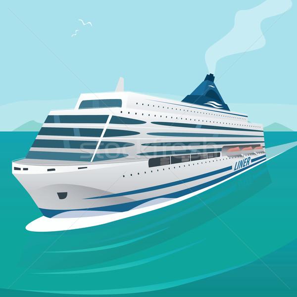 Cruise golven Open zee groot mooie Stockfoto © alexanderandariadna