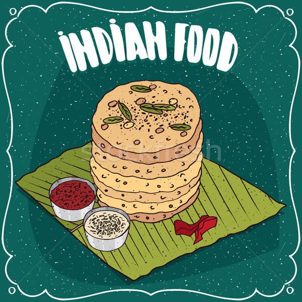 Indian tradizionale alimentare piatto cucina indiana Foto d'archivio © alexanderandariadna